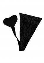Adhesive Thong Black Lace