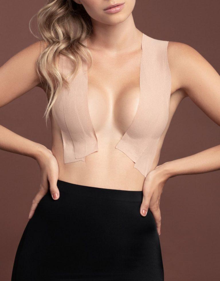 Bye Bra - Body Tape - Beige and Satin Nipple Covers