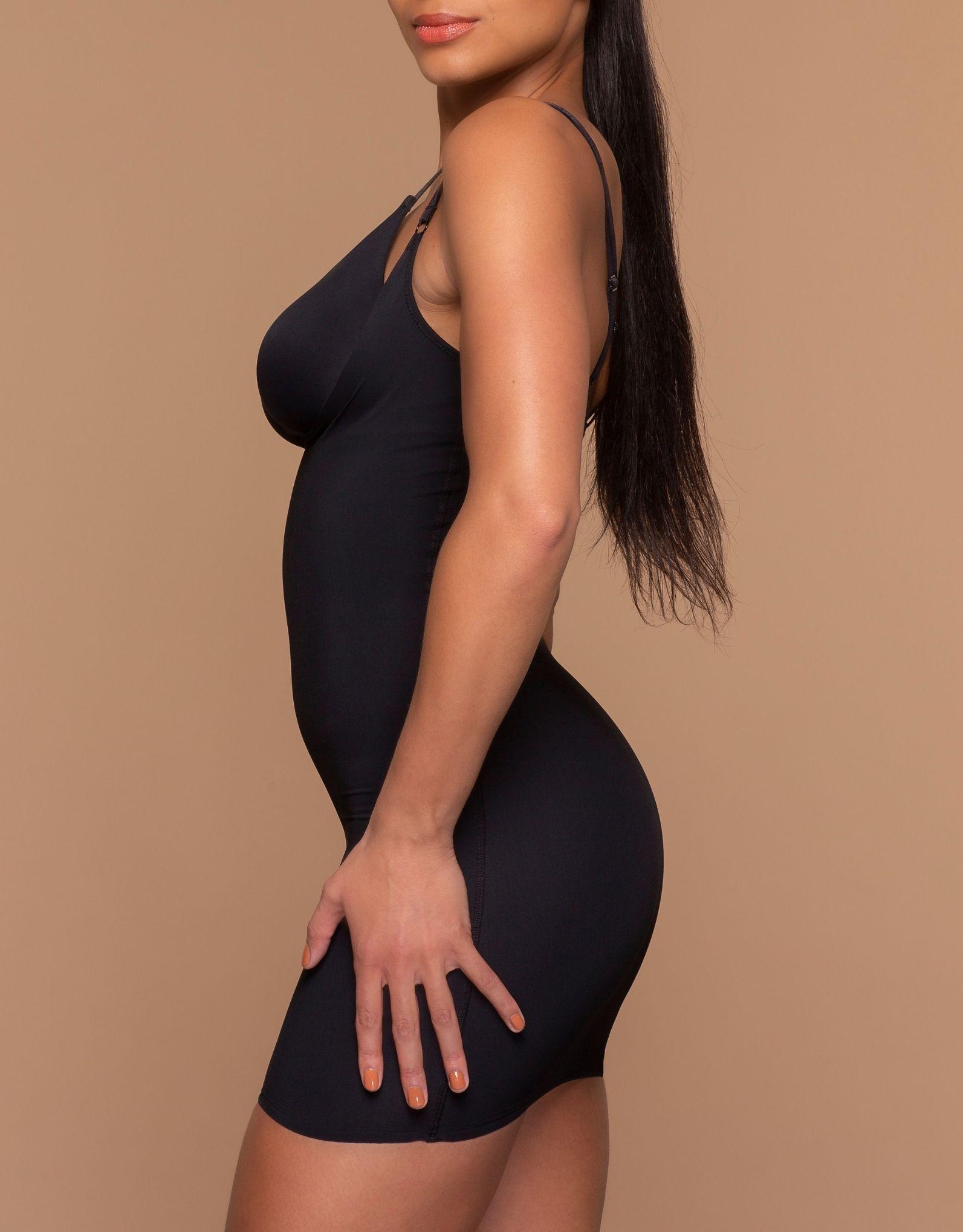 Bye Bra - Sculpting Open Bust Dress - Black