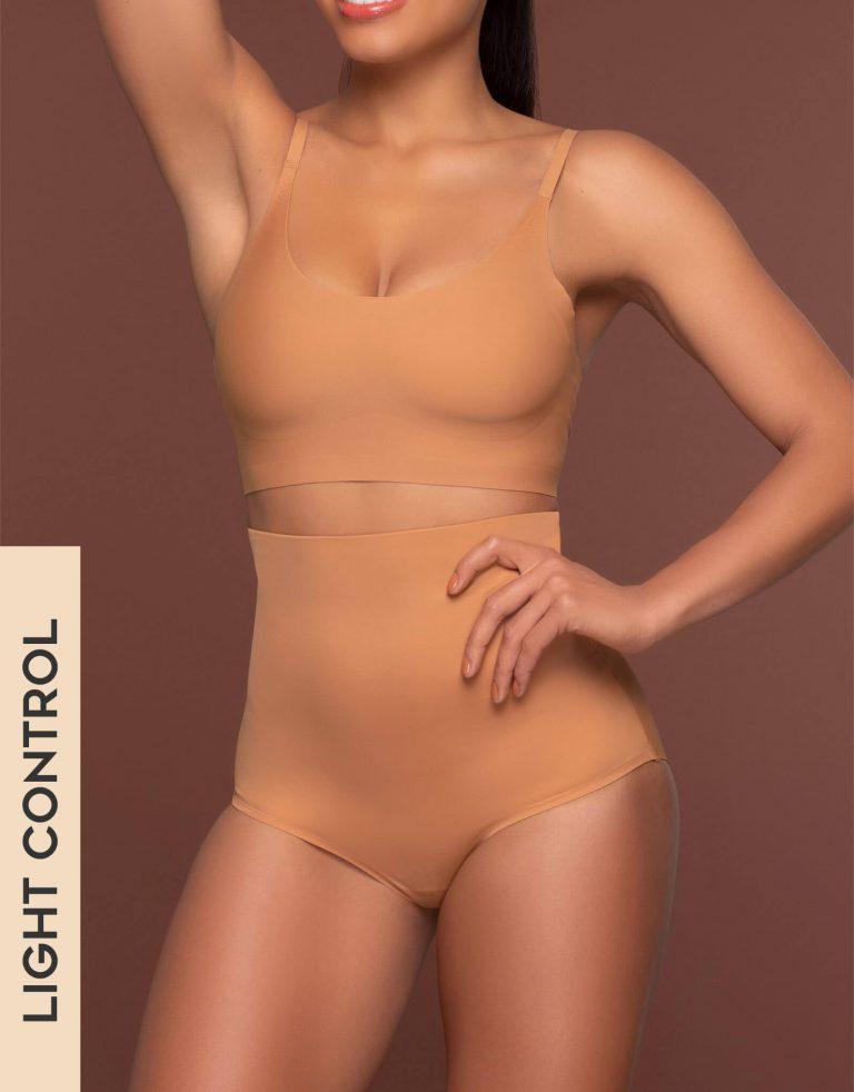 Bye Bra - Shapewear - Invisible High Waist Brief - Light Brown