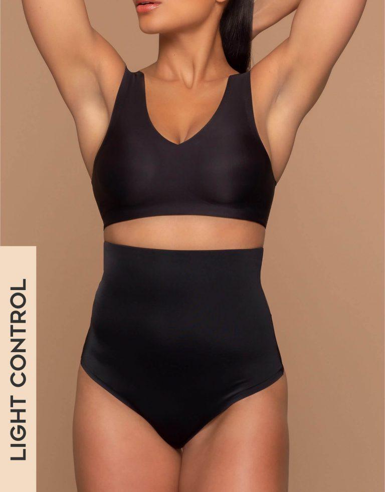 Bye Bra - Shapewear - Invisible High Waist Thong - Black