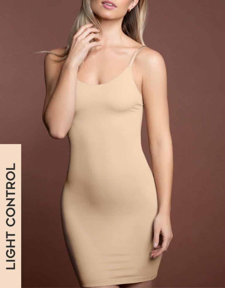 Bye Bra - Shapewear - Invisible Singlet Dress - Beige