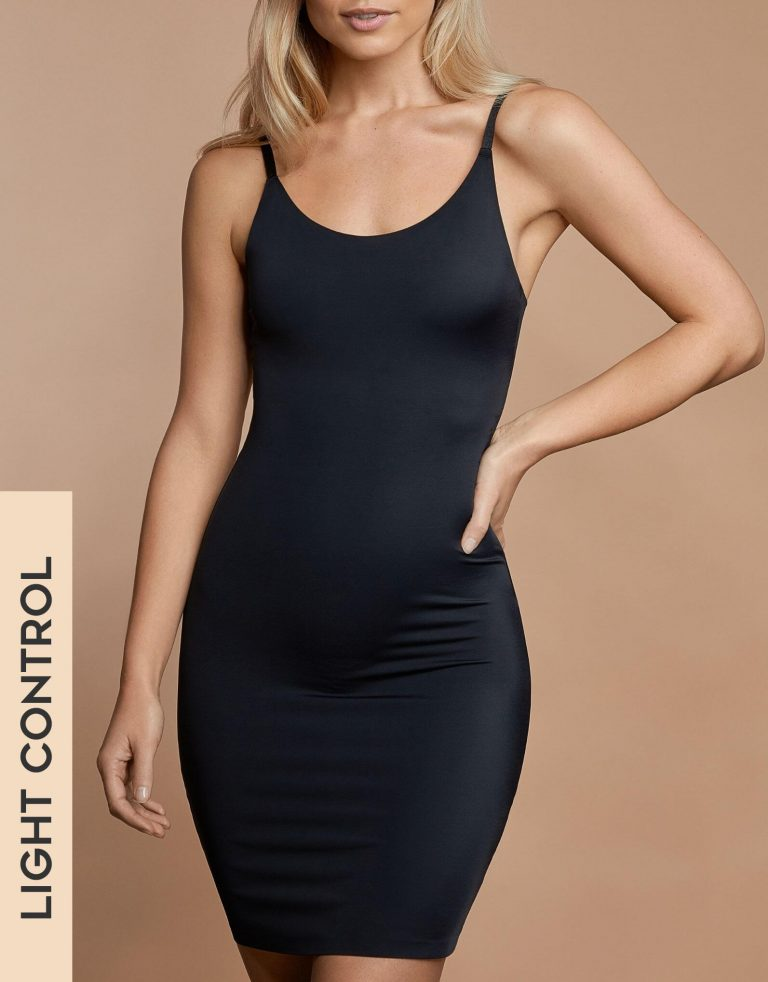 Bye Bra - Shapewear - Invisible Singlet Dress - Black