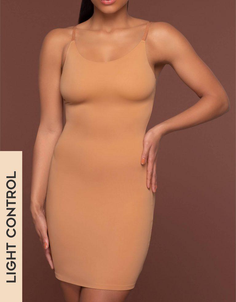 Bye Bra - Shapewear - Invisible Singlet Dress - Light Brown