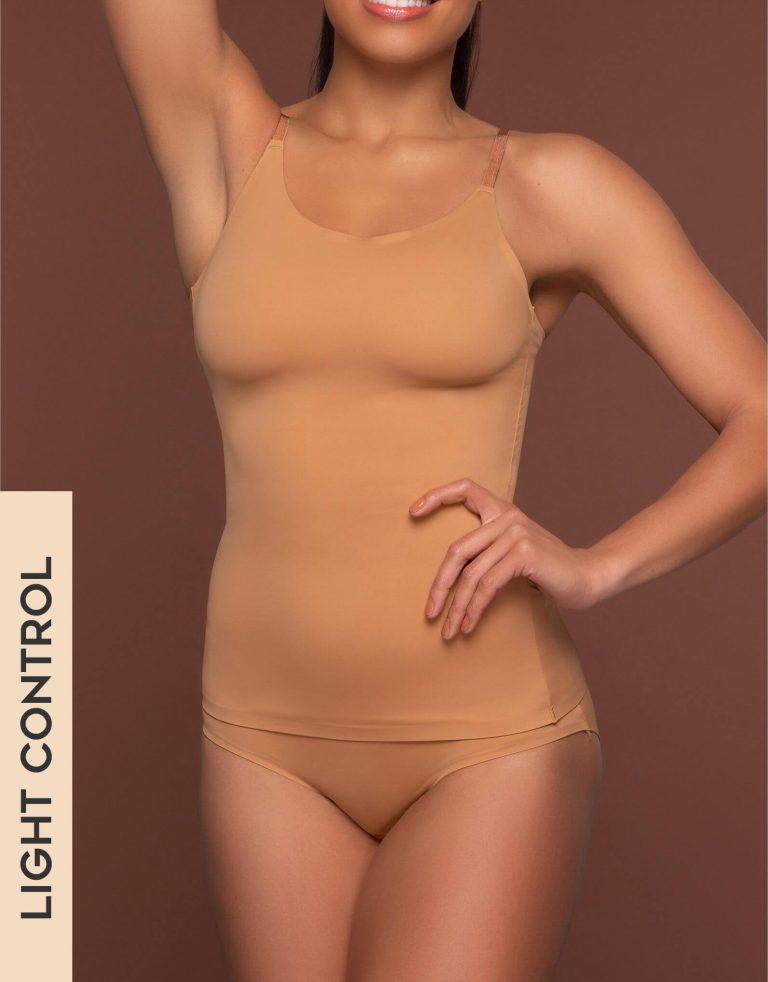 Bye Bra - Shapewear - Invisible Singlet - Light Brown