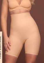 Bye Bra - Shapewear - Sculpting High Waist Shorts - Beige
